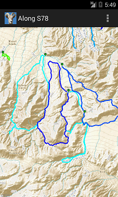 Android Topographic Map App.Borregohiking Com Android App